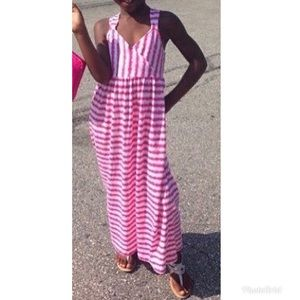Girls Striped Maxi Dress